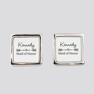 Bridal Party Personalized Square Cufflinks