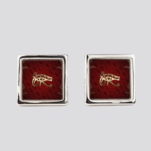 The all seeing eye in gold Square Cufflinks