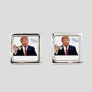 Donald Trump China Funny Square Cufflinks