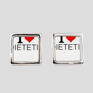 I Love Dietetics Square Cufflinks