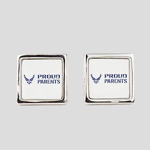 USAF: Proud Grandparent Square Cufflinks