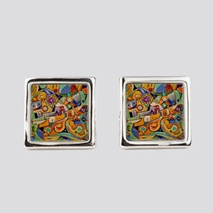 Roadrunner Defusing a Candle Square Cufflinks