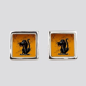 Black Cat Evil Angry Funny Character Square Cuffli