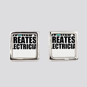 World's Greatest Electrician Square Cufflinks