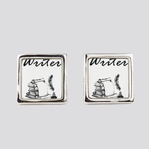 Writer Books and Quill Square Cufflinks
