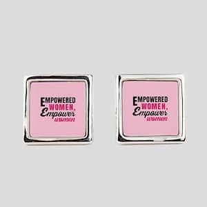 Empowered Women Empower Women Square Cufflinks