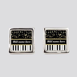 Personalized Piano and musical notes Cufflinks