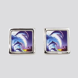 dolphins Square Cufflinks