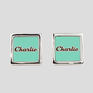 Charlie Aqua Cufflinks