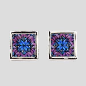Purple Quilt Cufflinks