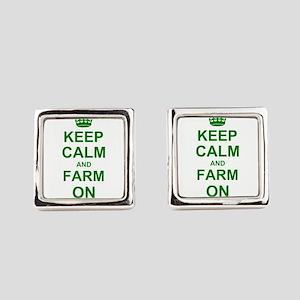 Keep calm and Farm on Cufflinks