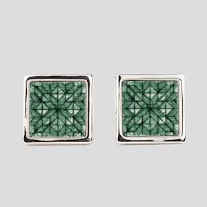 Green Marble Quilt Cufflinks