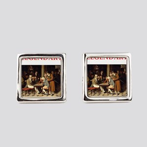 checkers Square Cufflinks