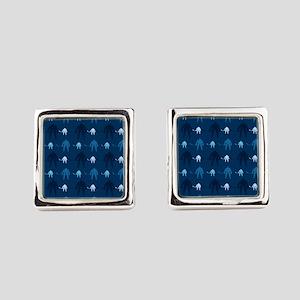 Dark and Light Blue Ice Hockey Square Cufflinks