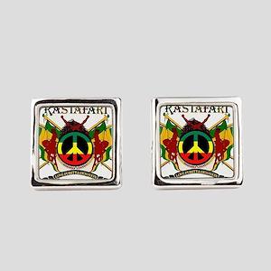 Jah Rastafari Square Cufflinks