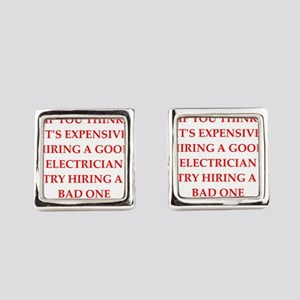electrician Square Cufflinks