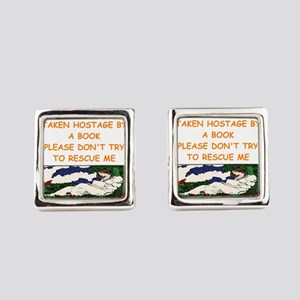 book lover Square Cufflinks
