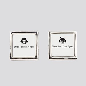 Stronger Than a Pack of Coyotes Square Cufflinks