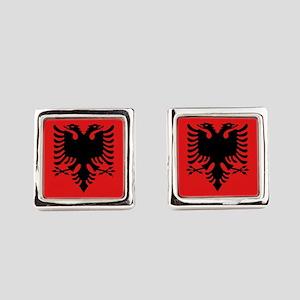 Flag of Albania Square Cufflinks