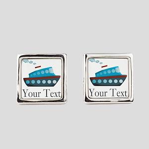 Personalizable Cruise Ship Square Cufflinks