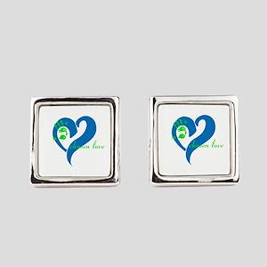 chosen love Square Cufflinks