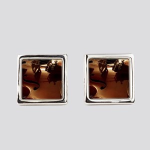 Beautiful Violin Square Cufflinks