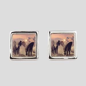 Cute baby elephant Square Cufflinks