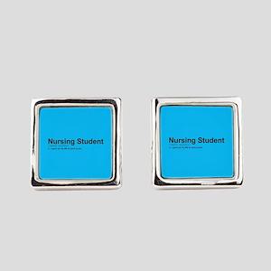Nursing Student Definition Square Cufflinks