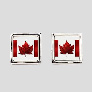 Canada Flag Souvenirs Canadian Ma Square Cufflinks