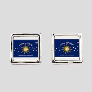 Conch Republic Plate Square Cufflinks