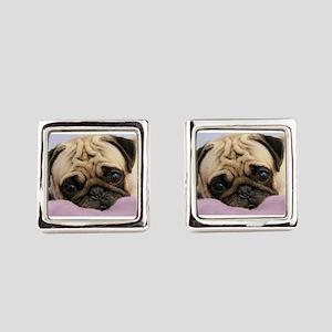 Pug Puppy Square Cufflinks