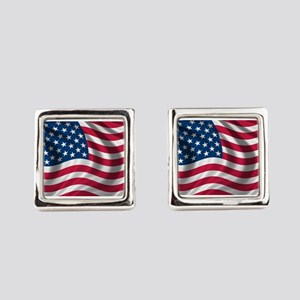 usflag Square Cufflinks