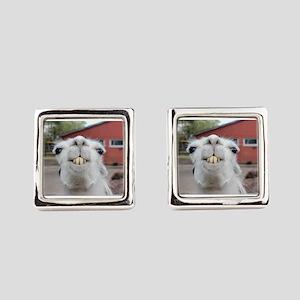 Funny Alpaca Llama Square Cufflinks