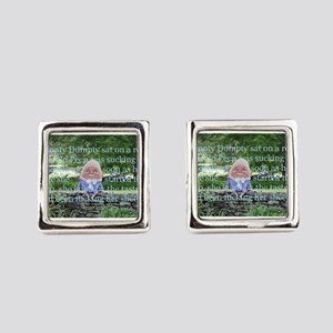 Adult Humor Nursery Rhyme Square Cufflinks