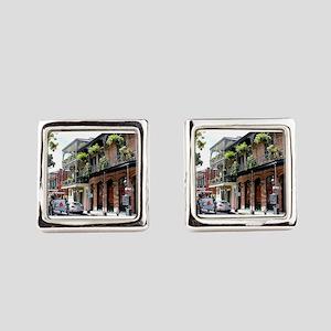 French Quarter Street Square Cufflinks