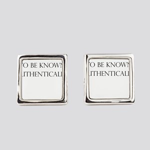 To be known authentically Square Cufflinks