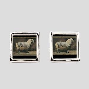 Percheron Horse Square Cufflinks