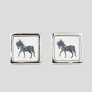 SPIRITED HORSE Square Cufflinks