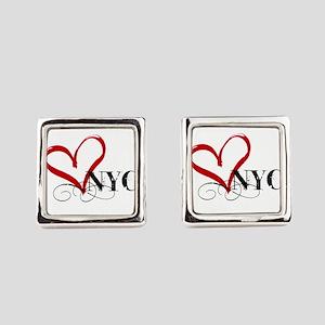 LOVE NYC FANCY Square Cufflinks