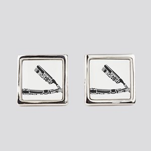 barber razor collage Square Cufflinks