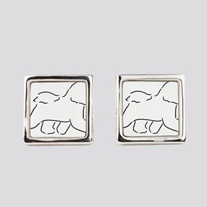 Bichon pen and ink Square Cufflinks