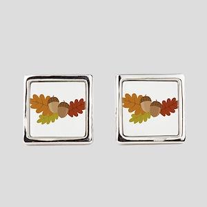 Acorn Leaves Square Cufflinks