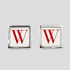 W-bod red2 Square Cufflinks