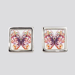 Scroll Butterfly Square Cufflinks