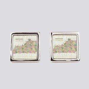 Vintage Map of Kentucky (1827) Square Cufflinks