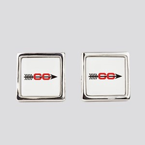 Cross Country Logo Square Cufflinks