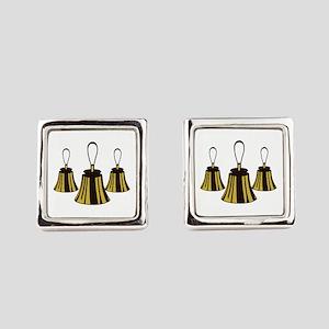 Three Handbells Square Cufflinks
