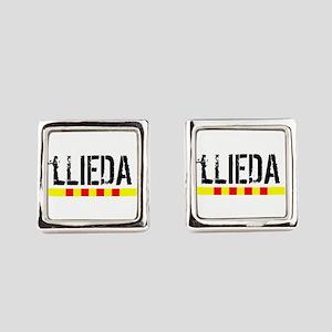 Catalunya: Lleida Square Cufflinks
