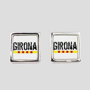 Catalunya: Girona Square Cufflinks