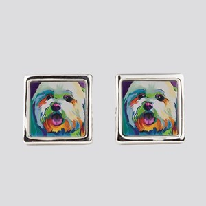 Dash the Pop Art Dog Square Cufflinks